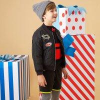 【美邦超品返场1件3折专区 到手价:74.7】美特斯邦威旗下Moomoo童装男童时尚面包廓型梭织棉服中大童新款冬季外套