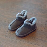 儿童雪地靴2018冬季新款女童加绒宝宝短靴男童防滑保暖棉鞋