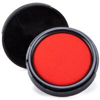 齐心速干快干小印台印油朱肉按手印办公盖章公章红色印泥水指纹印泥印章套装印台红色印泥盒大号小号便携