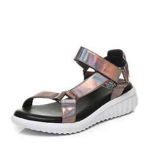Tata/他她夏专柜同款牛皮坡跟休闲女皮凉鞋FCL01BL7