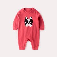 婴儿秋装外出哈衣新生儿连体衣秋冬长袖三个月宝宝衣服女秋季