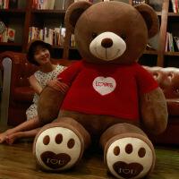 大熊毛绒玩具送女友泰迪熊熊猫公仔抱抱熊2米女生布娃娃超大号1.6