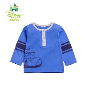 迪士尼Disney男童T恤春秋男宝宝纯棉长袖T恤上衣外出服171S885