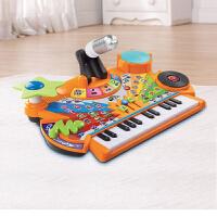 VTech伟易达 多功能音乐台电子琴玩具 儿童钢琴玩具带麦克风 3岁