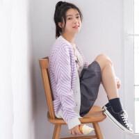 少女初中学生13岁大童毛衣18韩版17宽松14针织15女孩16秋冬装外套 均码