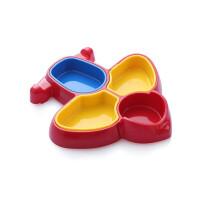 W 卡通小飞机儿童餐盘宝宝分格餐具分餐碗防摔塑料小饭盒同款
