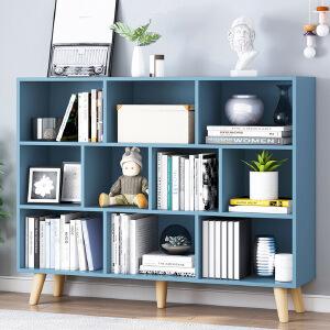 柏易 环保加厚型组合钢木书架单架 小户型多层书橱组合书架置物架货架展示架
