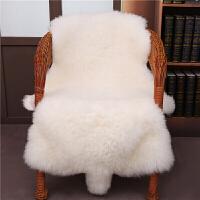 整张羊皮皮毛一体沙发羊毛地毯坐垫床边褥子垫飘窗垫客厅地垫 自然黄(绵羊皮)
