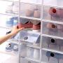 Tenma天马株式会社加厚翻盖鞋盒塑料简易装鞋子收纳盒大号防尘组合鞋柜6个装
