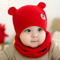 婴儿帽子秋冬季0男宝宝3儿童春秋保暖毛线帽女6新生儿12个月1岁yly