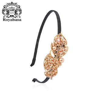 皇家莎莎发箍发饰头饰奢华时尚款合金仿水晶日韩国版发卡曼舞轻影