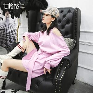 七格格黄色不规则卫衣女宽松韩版2019新款春季慵懒风圆领套头上衣