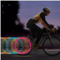 安全灯夜间照明 骑行灯 防水防震户外自行车LED风火轮 车轮灯 辐条灯