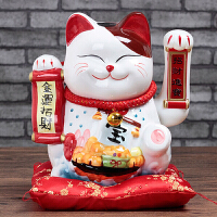 20180513054853551猫摆件电动电池摇手猫陶瓷大号家居店铺开业创意生日礼品