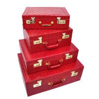 结婚下聘礼聘金盒订婚彩礼礼金盒装10-100万现金黄金首饰金器盒子