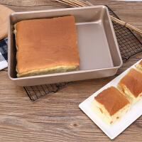 烤盘家用小烤箱用长方形烘焙古早蛋糕模具戚风面包饼干不粘深烤盘