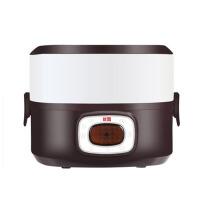 迷你加热饭盒 双层电热饭盒 蒸煮热饭器 陶瓷可插电保温饭盒