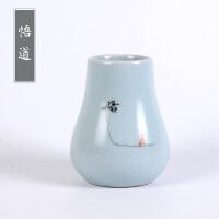 汝窑小花瓶陶瓷插花瓷瓶花器瓶子简约家居客厅茶几装饰瓷器小摆件