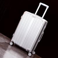 拉杆箱女旅行箱24寸万向轮行李箱20寸登机箱男女皮箱子 银色 银色