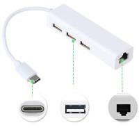 惠普 Elite X2 1012笔记本USB3.1 Type-c接口转有线网 +USB集 【Type-C转 网线―US