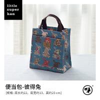 韩版防水手提饭盒袋便当包大小容量 女士手提包午餐包妈咪包