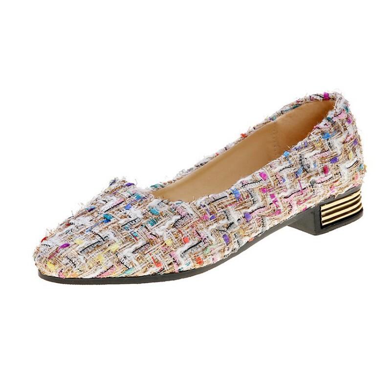 WARORWAR新品YN13-309春夏韩版低跟舒适女单鞋