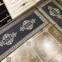 长条厨房地垫吸水防滑脚垫厨房防油进门门垫家用地毯 +