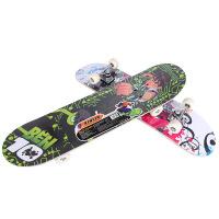 儿童四轮滑板宝宝初级卡通双翘公路板青少年滑板车 图案随机