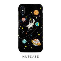20190529061153431星球宇航员iphone8原创插画7plus手机壳卡通XR苹果XSMax 6S保护套
