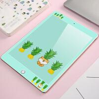 10.5寸苹果平板iPad Pro9.7卡通钢化彩膜 A1701高清屏幕保护贴膜 ipad pro9.7菠萝小熊