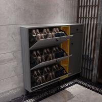 门口超薄翻斗鞋柜17cm北欧省空间家用门厅柜现代简约大容量玄关柜