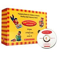 学乐高频英语词汇练习绘本 英文原版书High Frequency Readers 正版进口英语儿童启蒙读物套装英文版Scholastic单词学习卡片 附CD