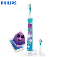 飞利浦儿童电动牙刷HX6322儿童牙刷充电式声波震动牙刷蓝牙APP版