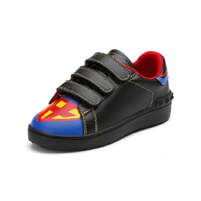 比比我儿童春秋新款休闲板鞋魔术贴大童板鞋
