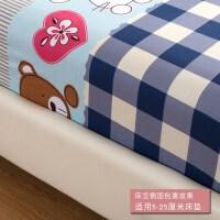 老粗布单件防滑床笠加厚纯棉布料床垫子保护套床罩定做床席