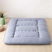 日式地铺加厚保暖防滑榻榻米床垫1.2折叠双人睡垫1.5m床褥子1.8米 灰色 厚10cm