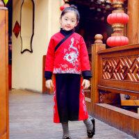 儿童汉服冬女童男童中国风秋装唐装古装套装中式宝宝装周岁民国风