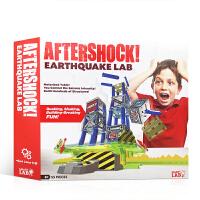 英文原版 Aftershock earthquake Lab 地震实验室 盒装玩具书 STEM教育 科学互动 物理学 S