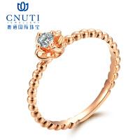 CNUTI粤通国际珠宝 18K金镶嵌钻石戒指 钻石女戒