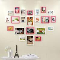 心形照片墙 相框墙相片墙