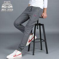 Afs Jeep男卫裤战地吉普时尚运动休闲长裤青年男士针织长裤703
