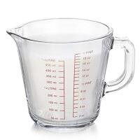 钢化玻璃杯量杯带刻度耐热可进微波炉 牛奶杯 玻璃量杯 刻度杯 进口钢化玻璃材质