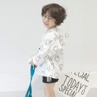 2018夏季新款韩版男女童米菲兔防晒衣儿童兔子防晒服外套潮