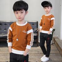 男童春款套头卫衣新款韩版休闲中大童圆领上衣儿童春秋体恤衫