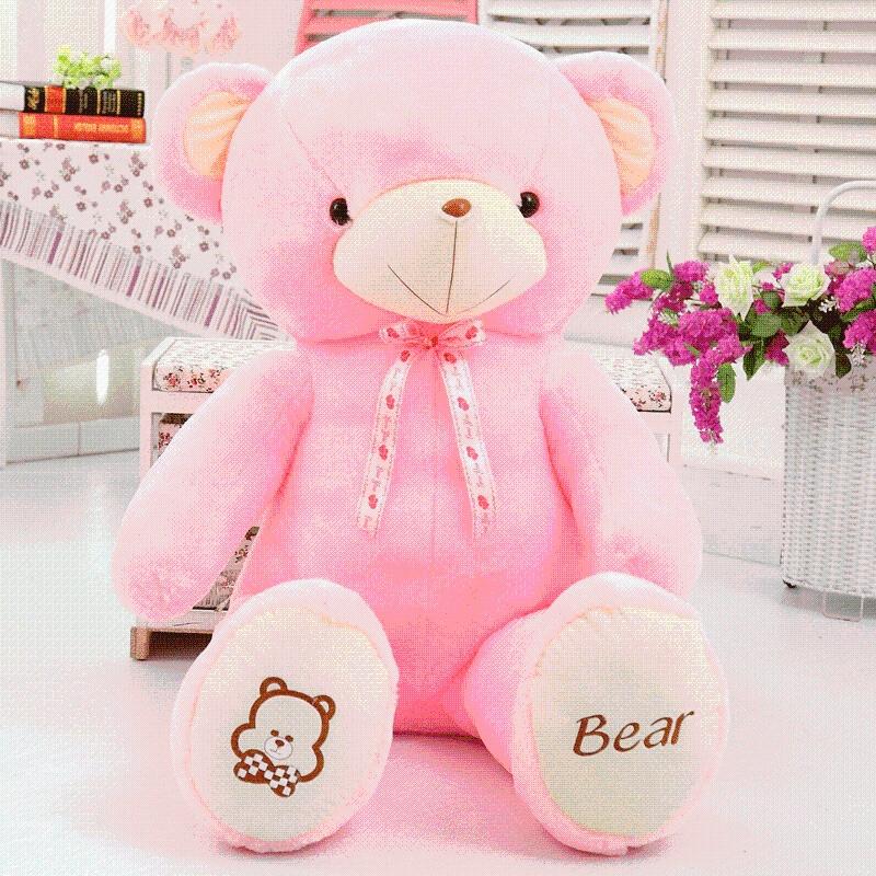 布娃娃可爱大号毛绒玩具泰迪熊大熊公仔熊猫抱枕生日礼物 BEAR 熊 粉色 发货周期:一般在付款后2-90天左右发货,具体发货时间请以与客服协商的时间为准