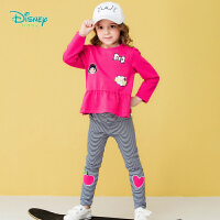 迪士尼Disney童�b 卡通Q版白雪公主女童套�b2019春季新款����衣服休�e可�_�n191T912