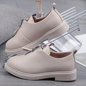 女童皮鞋2019新款春季中大童鞋子软底韩版英伦风黑色小女孩公主鞋