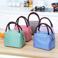 饭盒包手提包防水女包手拎便当包饭盒袋便当盒带饭包帆布保温袋子