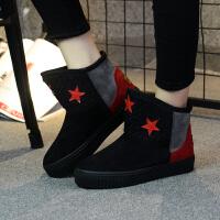 鞋子女2018新款女靴冬季百搭加绒韩版短筒保暖棉鞋女学生雪地靴
