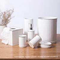 刷牙杯套装陶瓷卫浴套装卫生间浴室用品浮雕描金陶瓷漱口杯欧式卫浴七件套